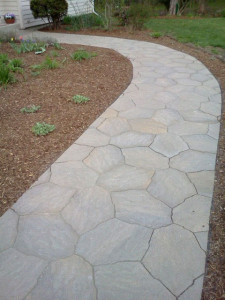 A custom-built walkway. Beautiful!